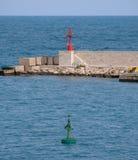 Entrance to the port of Otranto on the Salento peninsula, Puglia, South Italy. Otranto, Italy. Entrance to the port of Otranto on the Salento peninsula, Puglia stock photography