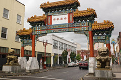 Entrance to portland chinatown Stock Image