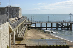 Entrance to Portsmouth Harbour, England Stock Images