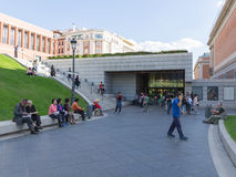 Entrance to the Prado Museum Royalty Free Stock Photography
