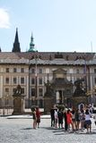 Entrance to the Prague castle, Czech Republic. Royalty Free Stock Photography