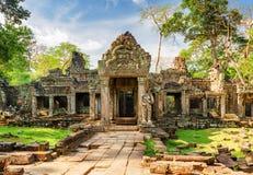 Entrance to Preah Khan temple in ancient Angkor, Cambodia Royalty Free Stock Photos