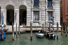 Entrance to Prefettura Di Venezia from the Grand Canal in Venice Royalty Free Stock Images