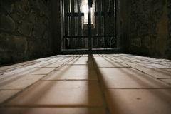 Entrance to prison cell Royalty Free Stock Images