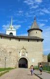 Entrance to the Pskov Kremlin. Russia. The Pskov Kremlin (Krom) - ancient citadel in old russian city Pskov Stock Photography