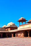 Entrance to Queen's Palace in Fatehpur Sikri Stock Images