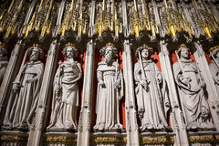 Entrance to the Quire in York Minster, UK, featuring stone statu Stock Images