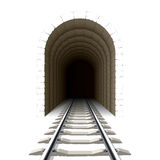 Entrance to railway tunnel Royalty Free Stock Images
