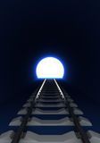 Entrance to railway tunnel Stock Image