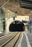 Entrance to railway tunnel Royalty Free Stock Photo