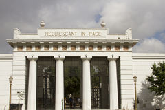 Entrance to Recoleta Cemetery, Buenos Aires, Argentina Stock Photo