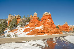 Entrance to Red Canyon on Scenic Byway 12 in Utah Stock Photo