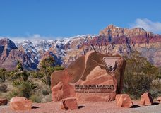 Entrance to Red Rock Canyon Nevada Royalty Free Stock Image
