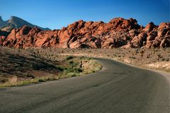 Entrance to Red Rock Canyon, Nevada Royalty Free Stock Photos