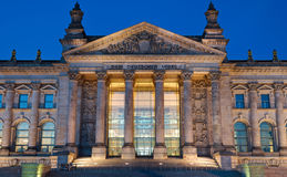 Entrance to the Reichstag in Berlin Stock Photography
