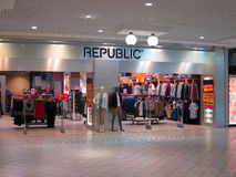 Entrance to Republic store. Stock Images