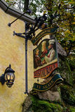 The entrance to the restaurant and brewery museum Chodovarr Royalty Free Stock Photography