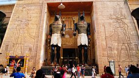 The Entrance to the Revenge of the Mummy Stock Images