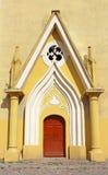 Entrance to Roman Catholic Cathedral, Berehove, Ukraine Royalty Free Stock Image