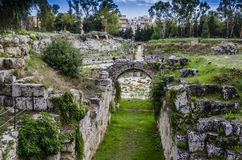 Entrance to the Roman circus of Syracuse Royalty Free Stock Photography