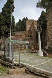 Entrance to Roman Theatre and Alcazaba of Malaga- moorish fortress in Malaga, Spain. Entrance to Roman Theatre and Alcazaba of Malaga- moorish fortress in Royalty Free Stock Photography