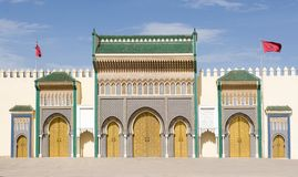 Entrance to the Royal Palace in Fes, Morocco Royalty Free Stock Photos