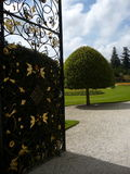 The entrance to the royalty gardens Stock Photos