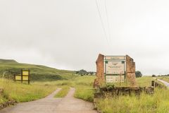 Entrance to the Rugged Glen Camp Site. MALOTI DRAKENSBERG PARK, SOUTH AFRICA - MARCH 18, 2018: Entrance to the Rugged Glen Camp Site in the Maloti Drakensberg Stock Photos
