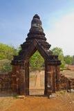 Entrance to ruin of pagoda. At Kum Pang Pech historical park,Thailand Royalty Free Stock Image