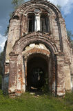 Entrance to the ruined church Stock Photography