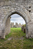 Entrance to the ruins of Dominican abbey, Ireland. Royalty Free Stock Images