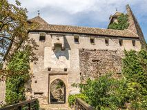 The entrance to Runkelstein Castle, Castel Roncolo, Bolzano, Italy. The entrance to Runkelstein Castle, Castel Roncolo, Bolzano, South Tyrol, Italy royalty free stock photography
