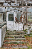 Entrance to Rustic Greenhouse Ruins Royalty Free Stock Images
