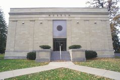 Entrance to the Rutherford Hayes Presidential Center, Fremont, OH Royalty Free Stock Photos