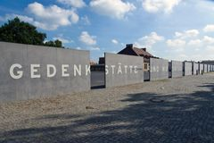 Entrance to Sachsenhausen concentration camp Royalty Free Stock Images