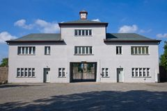 Entrance to Sachsenhausen concentration camp Royalty Free Stock Photos