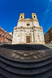 Entrance to Saint Anne church at Cagliari historical downtown, Sardinia Royalty Free Stock Photography