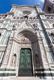 Entrance to the Saint Mary Basilica in Florence. Royalty Free Stock Image