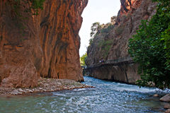 Entrance to Saklikent Gorge in Turkey Stock Image