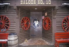 Entrance to saloon in Deadwood, SD Stock Image