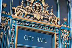 Entrance to San Francisco City Hall Royalty Free Stock Photo