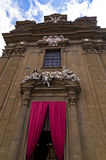 Entrance to San Gaetano church in Florence, Tuscany Royalty Free Stock Photography