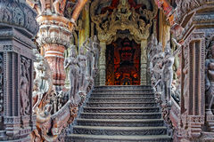 Entrance to the Sanctuary of Truth Royalty Free Stock Images