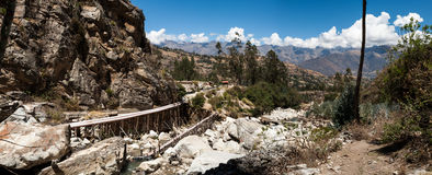 Entrance to Santa Cruz Trek, Peru, Royalty Free Stock Photo
