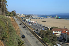 The entrance to Santa Monica from north Stock Photos