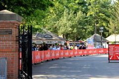 Entrance to Saratoga Race Track on Travers Day, August 29th,2015 Stock Photos