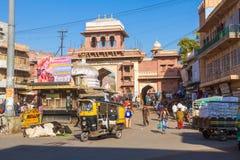 Entrance to Sardar Market in Jodhpur Stock Photo