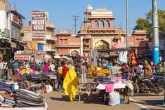 Entrance to Sardar Market in Jodhpur Stock Images