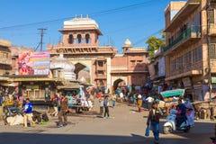Entrance to Sardar Market in Jodhpur Royalty Free Stock Photo