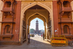 Entrance to Sardar Market in Jodhpur Royalty Free Stock Images